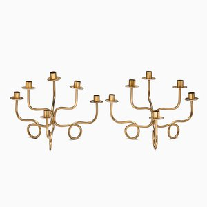 Six-Branched Candle Holders by Josef Frank, Set of 2