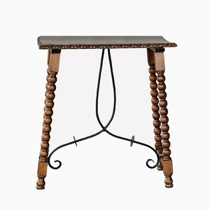 Antique Side Table in Wrought Iron