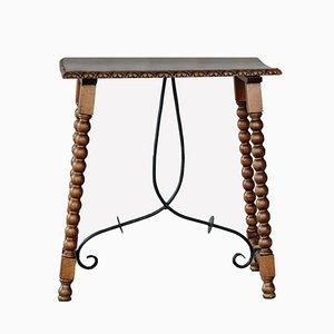 Table d'Appoint Antique en Fer Forgé
