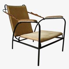 Vintage Armchair by Jaques Adnet for Compagnie des Arts Français, 1950s