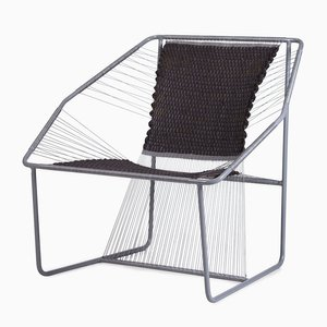 Fuchila Chair in Black & Gray by Marina Dragomirova