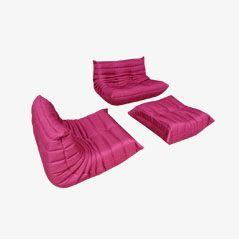 Vintage Pink Togos by Michel Ducaroy for Ligne Roset, Set of 3