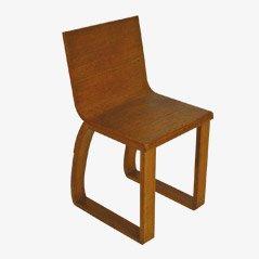 Französischer Stuhl aus Eichenholz, 1930er