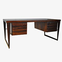 Rosewood Desk by Kai Kristiansen for Fedballes