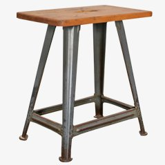 Vintage Workshop Stool from Rowac