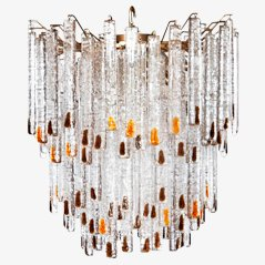 Glass Chandelier by Venini Murano,1960s
