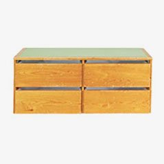 Pine Wall Mounted Cabinet by Charlotte Perriand