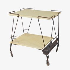 Tea Trolley by Mathieu Mategot for Ateliers Matégot, 1950