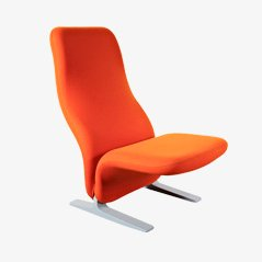 Orange Concorde Lounge Chair by Pierre Paulin for Artifort, 1960s