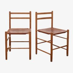 Chairs by Borge Mogensen, Set of 2