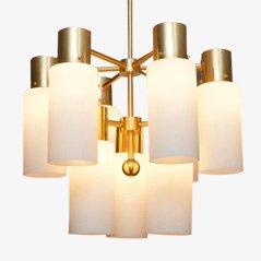 Lámpara colgante escandinava de U. Kristiansen para Luxus, años 50