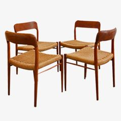 75 Chairs by Niels O. Møller for JL Møller, 1954, Set of 4