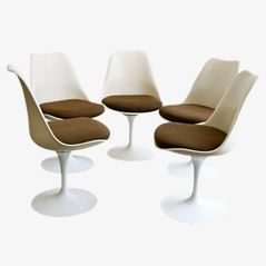 Vintage Tulip Chairs by Eero Saarinen for Knoll, Set of 5
