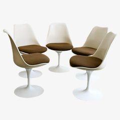 Vintage Tulip Stühle von Eero Saarinen für Knoll, 5er Set