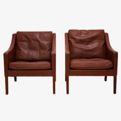 BM 2207 Armchairs by Børge Mogensen for Fredericia, 1963, Set of 2