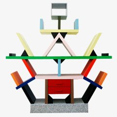 Carlton Bookcase by Ettore Sottsass for Memphis Milano, 1981
