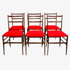 Leggara Chairs by Gio Ponti for Cassina, 1956, Set of 6