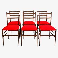 Leggara Stühle von Gio Ponti für Cassina, 1956, 6er Set