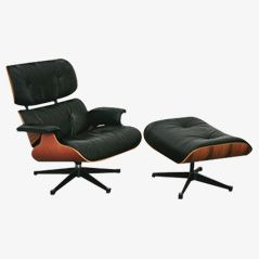 Vintage Eames Lounge Chair and Ottoman Set from Vitra