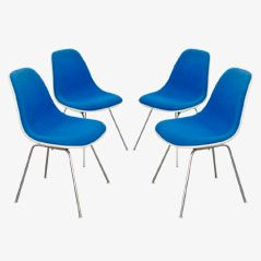 DSX Chairs by Charles & Ray Eames for Vitra, 1970s, Set of 4