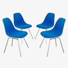 DSX Stühle von Charles & Ray Eames für Vitra, 1970er, 4er Set