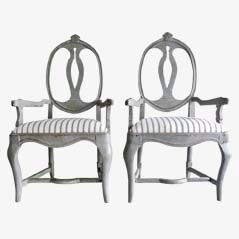 Rococo Armchairs, 18th Century, Set of 2
