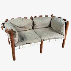 Sofá de dos plazas vintage de Rainer Daumiller para Hirtshals, años 70
