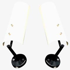 Lámparas de pared de J.J.M. Hoogervorst para ANVIA, 1955. Juego de 2