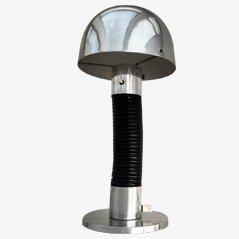 Lámpara hongo Mid-Century de aluminio, años 50