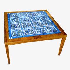 Tavolino da caffè con piastrelle di Severin Hansen Jr. per Royal Copenhagen, 1955