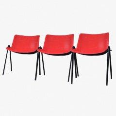 Chaises de Salon par Osvaldo Borsani pour Tecno, 1970, Set de 3