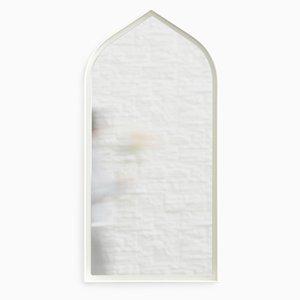 Espejo Panorami gótico en blanco de Enrica Cavarzan. Juego de 3