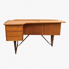 Teak Boomerang Schreibtisch von Peter Lovig
