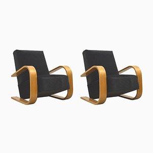 Finnische Sessel im Art Déco Stil, 1930er, 2er Set