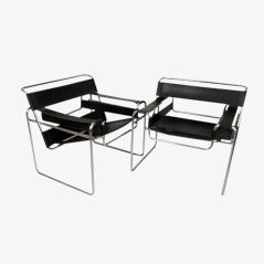 B3 Wassily Chairs by Marcel Breuer, Set of 2
