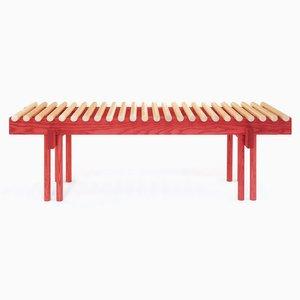 Heights Bank aus rot gefärbtem Eschenholz von Alban Le Henry