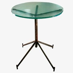 Vintage Industrial Glass Spider Table, 1950s