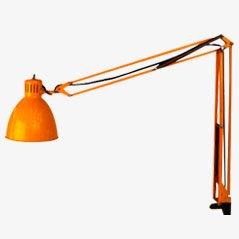 Lámpara de escritorio amarilla de Metalarte, años 50