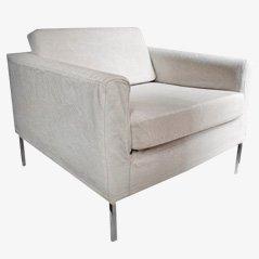 Mid-Century Linen Armchair, 1950s