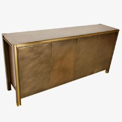 Brass Sideboard from Maison Jansen, 1980s