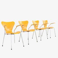 Seres 7 Armlehnstühle von Arne Jacobsen für Fritz Hansen, 1973, 4er Set