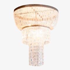 Lámpara de araña italiana vintage de cristal, años 60