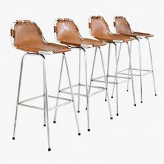 Les Arcs Bar Stools by Charlotte Perriand, 1960s, Set of 4
