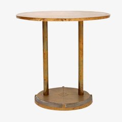 Dutch Vintage Brass Side Table by Peter Ghyczy