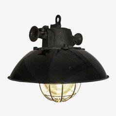 Lámpara colgante industrial vintage, años 70