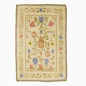 Swedish Pile Rug with Flowers by Sverker Greuholm