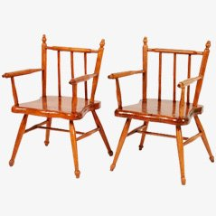 Wooden Children Chairs, Set of 2