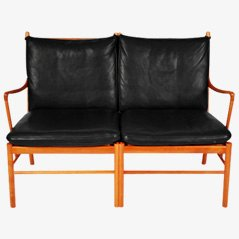 Colonial 2-Seater Sofa by Ole Wanscher for P.J. Furniture