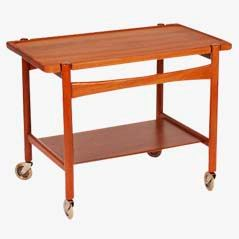 Vintage Serving Trolley by Hans J. Wegner for Andreas Tuck