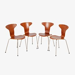 Model 3105 Ant Chairs by Arne Jacobsen for Fritz Hansen, 1958, Set of 4